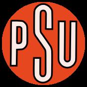 Le premier logo du PSU, lors de sa création en 1960.