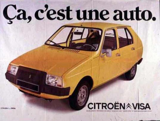 Publicité pour la Citroën Visa, 1976
