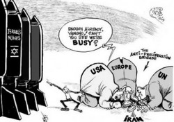 Une caricature traitant de la question nucléaire au Moyen-Orient
