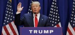 """Donald Trump, dernier candidat Républicain à s'être déclaré. L'affluence à la primaire des Républicains est sans précédent. Barack Obama a fait remarqué avec humour qu'ils pourraient organiser des """"Hunger Games""""."""