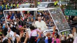Le Pape François lors d'une visite officielle