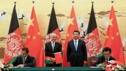 rencontre entre le président afghan, Ashraf Ghani, et le leader chinois, Xi Jinping.