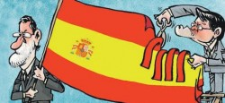 Arturo Mas and Mariano Rajoy fighting over the secession of Catalonia