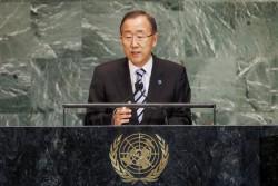"""En 2012 Ban Ki-moon annonçait que le """"désastre syrien"""" menaçait la paix mondiale. L'ONU gère au jour le jour les réfugiés."""