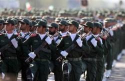 """Un défilé des fameux """"Pasdaran"""" iraniens."""