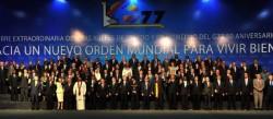 Les pays membres du G77 lors du Sommet du groupe en Bolivie en 2014.