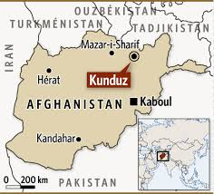 La ville de Kunduz en Afghanistan qui a été prise par les talibans