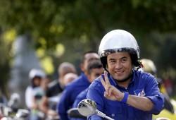 Jimmy Morales, ici en route pour un meeting le 22 octobre 2015, a été élu Président du Guatemala avec 67,44% des voix.
