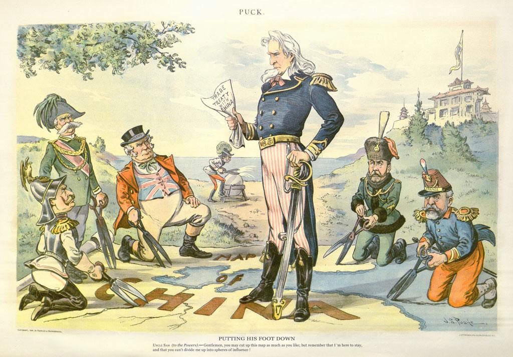 open door policy imperialism. Open Door Policy 1899. Dessin De Js Pughe 1899 Oncle Sam Etatsunis  Impose With Imperialism R