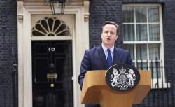David Cameron faisant une déclaration à la suite des attentats du 13 novembre 2015. Il a depuis réaffirmé à plusieurs reprises sa volonté d'intervenir en Syrie. (c) AFP