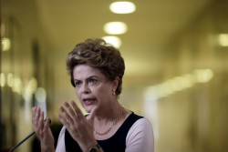 La Présidente du Brésil Dilma Rousseff pendant une conférence de presse donné le 7 décembre 2015. (c) Reuters