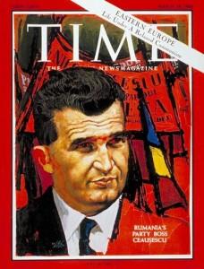 Couverture du Time à l'effigie de N. Ceausescu en mars 1966