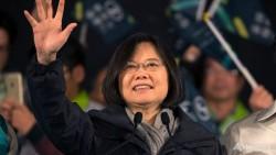 Tsai Ing-wen, la leader du parti d'opposition DPP maintenant majoritaire au parlement. Après 8 ans de progression, le rapprochement de Taipei et Pékin prévu par la Chine vient de connaitre un sérieux coup d'arrêt.