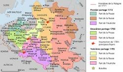 Les trois partages de la Pologne entre 1772 et 1795