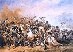 La bataille d'Ostroleka qui vit une défaite polonaise face à l'armée impériale malgré de nombreuses pertes des deux côtés
