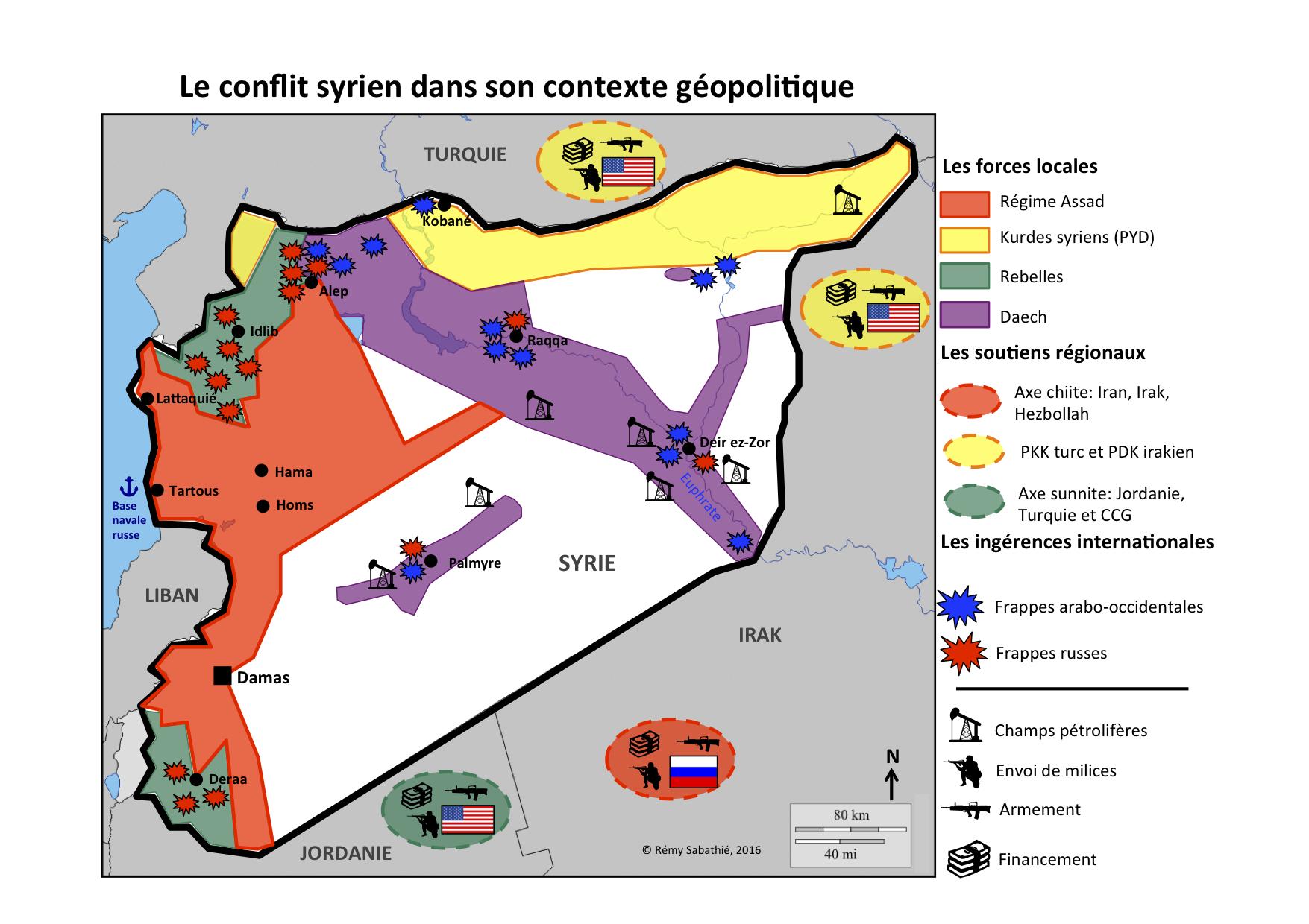 Carte Syrie YDM Rémy Sabathié