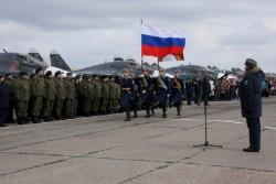 Cérémonie pour les militaires russes qui reviennent de Syrie
