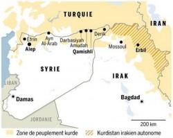 Les kurdes contrôlent aujourd'hui près de 14% du territoire syrien.