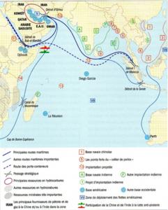 La stratégie dite du collier de perles illustre la capacité de la Chine à maintenir son hégémonie dans la région de l'Océan Indien.