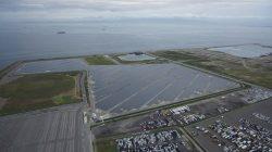 Le parc solaire SoftBank Izumiotsu situé dans la préfecture d'Osaka, créé en 2014