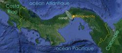 Localisation du canal de Panama