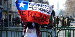 Manifestation étudiante au Chili - 2015