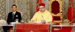 Le roi du Maroc le 30 Juillet 2016 au Palais Royal