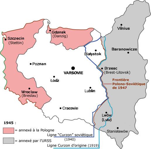 Le territoire de la Pologne, au coeur de l'Europe Centrale, avait un territoire beaucoup plus grand avant la Seconde Guerre Mondiale.