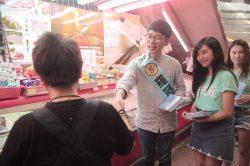 Nathan Law - ici en campagne pour son parti Demosisto - est un des six députés indépendantistes qui siégeront au LegCo hongkongais.