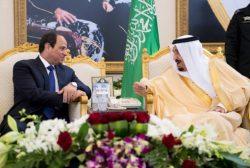 Le Président égyptien Sissi en visite en Arabie Saoudite en Mars dernier.