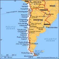 Carte des principales villes chiliennes