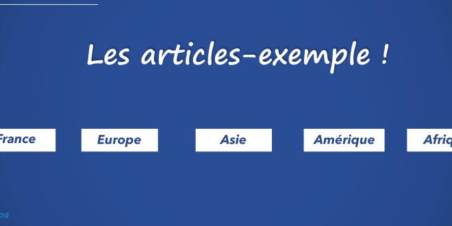 Tous les articles-exemple 2016 & 2017 dans un fichier PDF