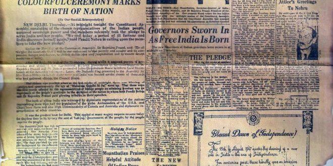 15 août 1947 : Partition des Indes