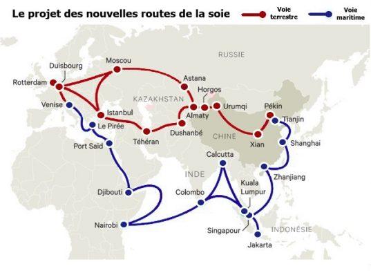 Le projet des nouvelles routes de la soie