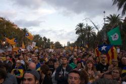 Manifestation à Barcelone en octobre 2017 pour soutenir l'indépendance de la Catalogne