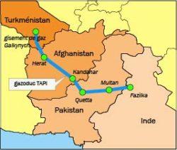 Le nouveau gazoduc TAPI permetrra au Turkménistan de diversifier les destinataires de ses exportations de gaz naturel.