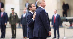 Emmanuel Macron et Donald Trump.