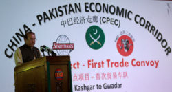 Le premier ministre Nawaz Sharif inaugure en 2016 le CPEC à Gwadar.