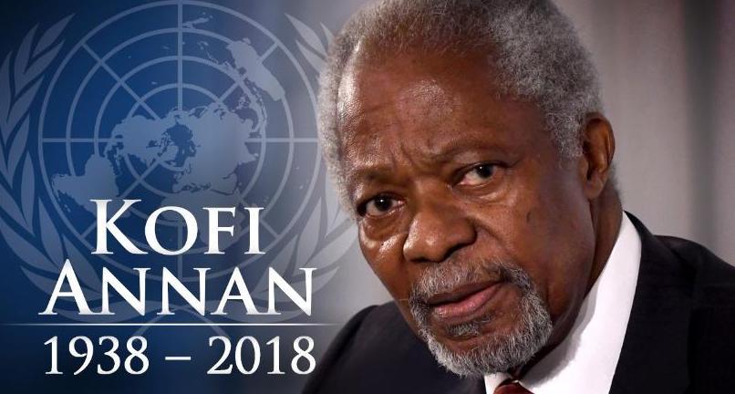 Kofi Annan (1938 – 2018): mort d'un grand humaniste du XXIème siècle