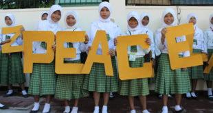 Petites filles musulmanes paix philippines