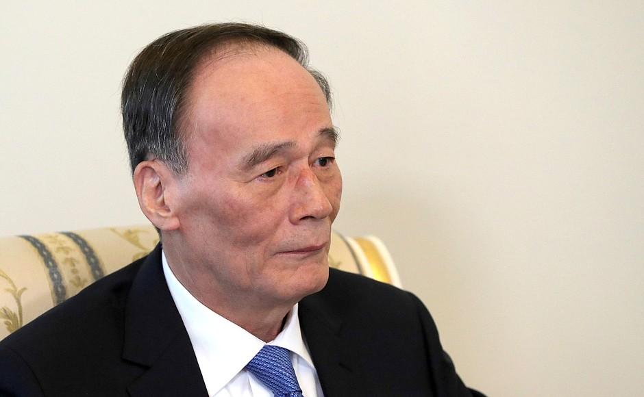 Le vice-président chinois Wang Qishan était à Davos.