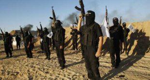 Des militants de l'Etat Islamique au Sinaï brandissent des armes lors d'une parade militaire