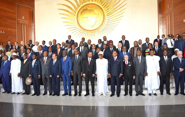 32e Sommet de l'Union Africaine photo officielle des dirigeants