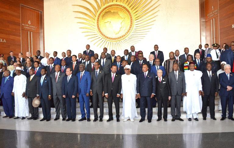 32e Sommet de l'Union Africaine photo officielle des dirigeants