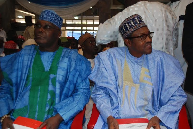 Atiku Abubakar et Muhammadu Buhari.