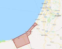 """Le """"mini-état"""" palestinien, à cheval entre la bande de Gaza et le Sinaï égyptien"""