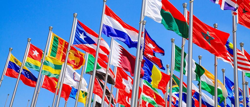 Drapeaux Etats nation branding