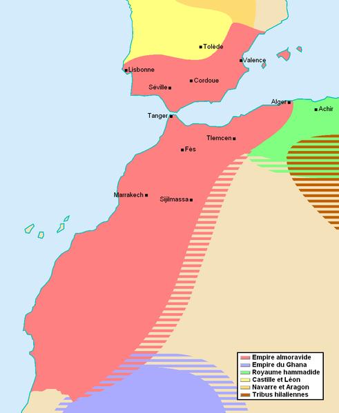 L'Empire almoravide a dominé le Maghreb de 1062 à 1150.
