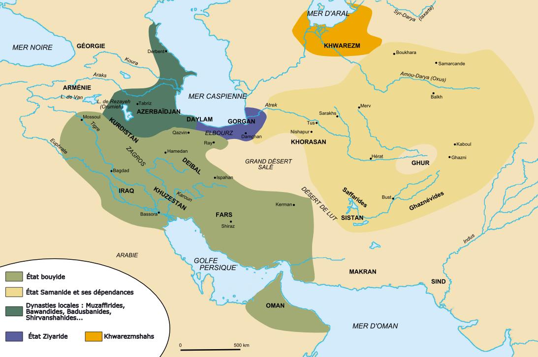 Les Bouyides sont des chiites mais acceptent de régner aux côtés du calife abbasside.