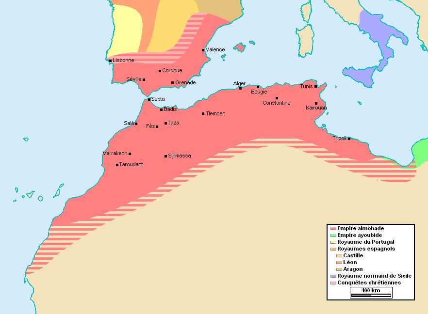 Les Almohades ont dominé le Magreb après les Almoravides.